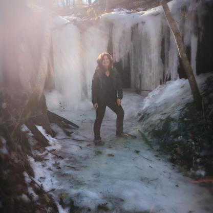 Ice Cave Hike, Kickapoo Valley Reserve. (Pictured: Michele Rucci, Founder)